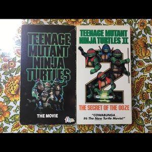 📼 TEENAGE MUTANT NINJA TURTLES I & II VHS